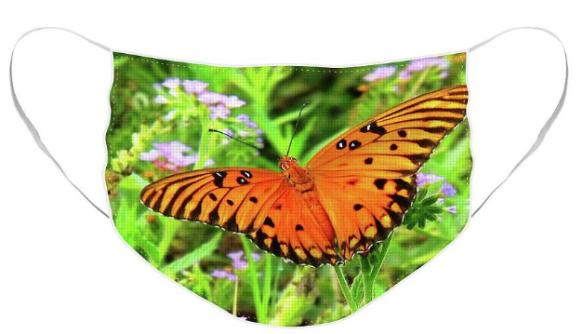 Screenshot_2020-04-18 Orange Butterfly Face Mask for Sale by Matthew Seufer